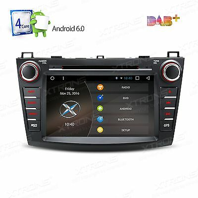 """8"""" Android 6.0 Quad-Core Car Audio Stereo DVD Player GPS for Mazda 3 2010-2013"""