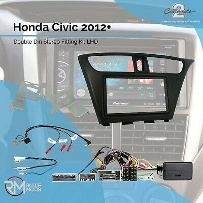 Connects2 CTKHD06L Honda Civic 2012 onwards Double Din Stereo Fitting Kit LHD