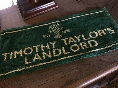 Timothy Taylor's Landlord Cotton Bar Towel brand new in Green