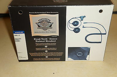 HARLEY DAVIDSON ROAD TECH STEREO HELMET HEADSET 76530-07 New