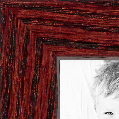 "ArtToFrames Custom Picture Poster Frame  Cherry on Red Oak  .75"" Wide Wood 4213"