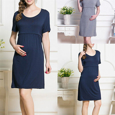 New BreastFeeding pregnancy Clothes Nursing Maternity Dress For Pregnant Women