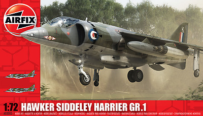 A03003 Airfix Hawker Siddeley Harrier GR.1 Plastic Model Kit 1:72 Scale New UK