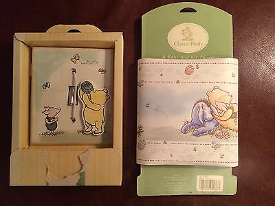 Classic Pooh Nursery Wall Border, 5yds. Light Switch Cover, Retired