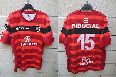 Maillot rugby STADE TOULOUSAIN 2013 POITRENAUD n°15 Nike shirt Toulouse rouge L