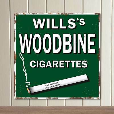 Replica WILLIS WOODBINE Sign, Rusty Vintage Cigarette Sign, Extra Large Sizes