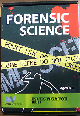 MUSEUM VICTORIA FORENSIC SCIENCE KIT Create FINGERPRINT DATABASE EXTRACT DNA