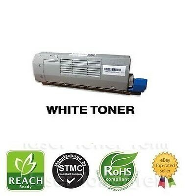 Remanufactured WHITE toner cartridge for use in OKI C711WT WHITE PRINTER