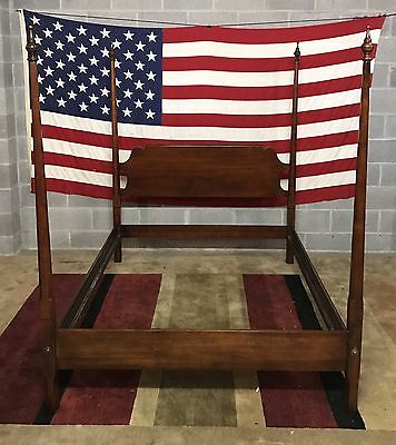 Statton - Solid Cherry Pencil Post Full Size Bed Old Towne Finish Great Cond