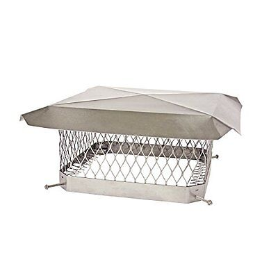 """Shelter SCSS1313 Stainless Steel Chimney Cap, Fits Outside Tile, 13"""" x 13"""""""