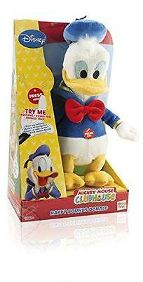 New Disney Mickey Mouse Clubhouse Happy Sounds Donald Soft Plush Toy