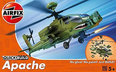 J6004 Airfix Quick Build Apache Helicopter Snap Together Kit New & Boxed UK