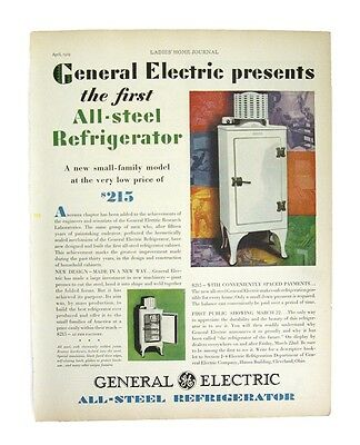 General Electric Refrigerator Ad 1929 The First All-Steel Refrigerator