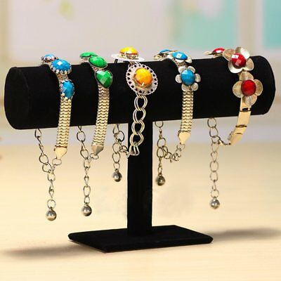 Velvet T-Bar Jewelry Rack Bracelet Necklace Stand Organizer Holder Display N#
