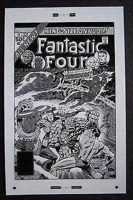 Production Art Cover to King Size Annual FANTASTIC FOUR #11 by JACK KIRBY