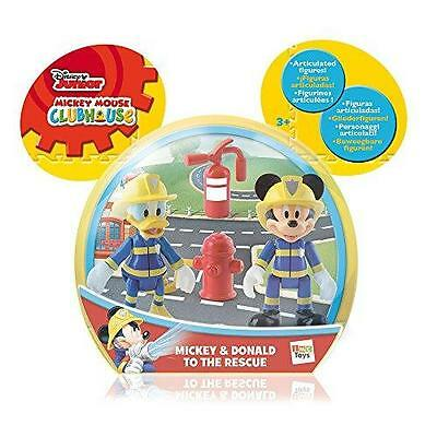 New Disney Mickey Mouse Clubhouse Mickey & Donald To The Rescue 2 Figure Set