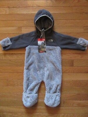 North Face Infant Chimba 1 Piece Snow Suit, Metallic Silver, Nwt, 3-6 Months