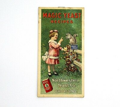 Antique Magic Yeast Recipes Brochure Northwestern Yeast Co. Early Lithography