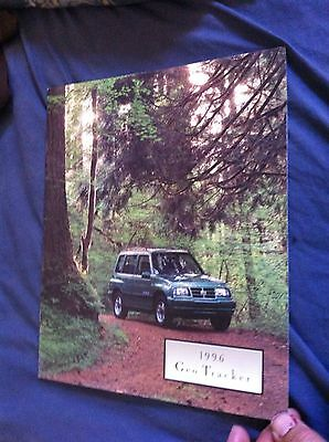 1996 Chevroelt GEO Suzuki Tracker SUV Original Color Brochure Prospekt