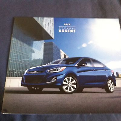 2014 Hyundia Accent Color Brochure Catalog Prospekt