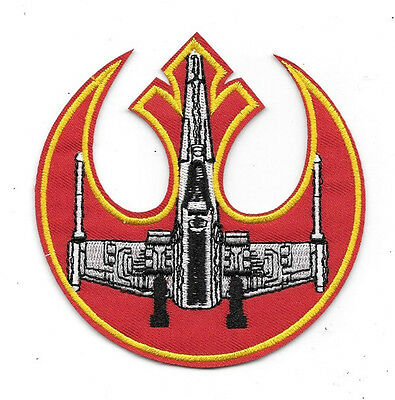 Star Wars X-Wing Fighter Red Squadron Logo Embroidered Patch NEW UNUSED