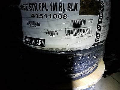 Honeywell Genesis 4151 16/2C Direct Burial UV Resis FPL Alarm Cable Blk /100ft