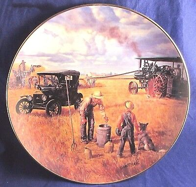 Danbury Mint BOUNTIFUL HARVEST Farming The Heartand Collection Limited Ed. Plate