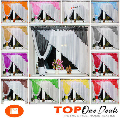 Amazing Voile Net Curtain with Colours Leaves Ready Made ​Modern Design New