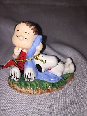 PEANUTS Linus and Snoopy Figure #18230 Mint in Box Westland Giftware