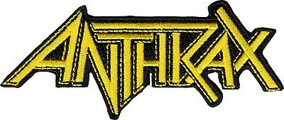 39208 Anthrax Logo Heavy Metal Thrash Music Band Embroidered Sew Iron On Patch