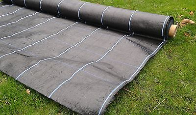 FABREX-100 Landscape Fabric 1m / 2m Wide Ground Cover Membrane, Weed Suppressant