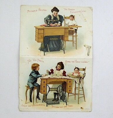 Tradecards Singer Sewing Machines Folded Trade Cards