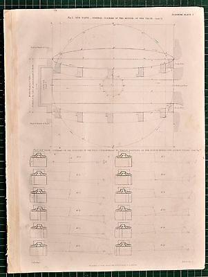 1855 Locomotive Print Old Valve Motion Of Positions Of Valve Piston Diagrams