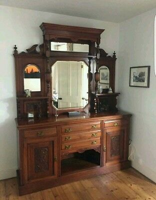 Victorian Walnut Mirrored Dresser