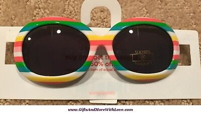 Gymboree NWT Multi-Color STRIPES UVA UVB PROTECTION DRESS SUNGLASSES 0 1 2 Years