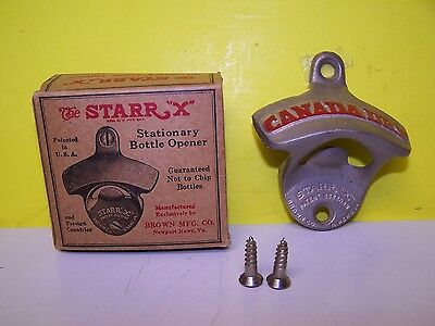 NEW IN BOX USA Vintage Starr X Canada Dry Stationary Bottle Opener Mint
