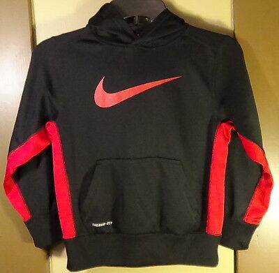 Black and Red Nike Therma-fit pullover hoodie Jacket size S