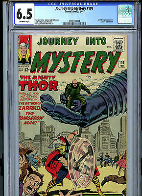 Journey into Mystery #101 (1964) Marvel CGC 6.5 OW 2nd Avengers Crossover