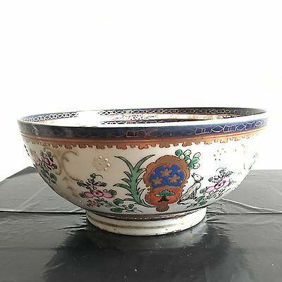 Antique Chinese Export Famille Rose Porcelain Large Bowl