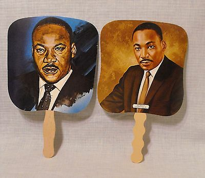 Hand Fans Advertising Vintage Collectible 2 Martin Luther King  Funeral Homes
