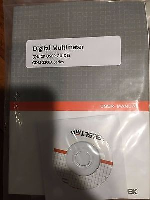 GW Instek Digital Multimeter Quick User Guide for GDM-8200A Series, With Leads
