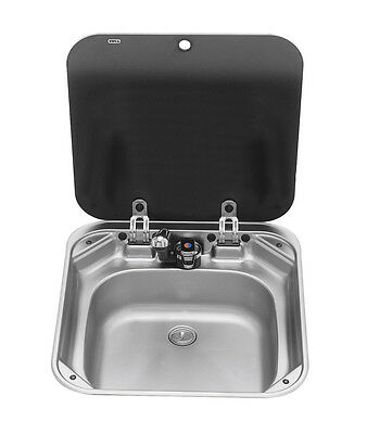 New Freshwater systems Smev Sink with Glass Lid Sink & Mixer w/Lid 420x440 Smev