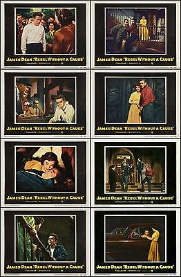 JAMES DEAN  REBEL WITHOUT A CAUSE COMPLETE SET OF 8  DIFF 11x14 LC prints 1955