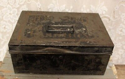 Antique Metal Tin Country Store Advertising Tutti Frutti Cash Box