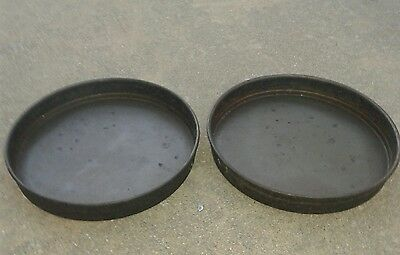 """Set of 2 Commercial Metalcraft Deep Dish 14"""" Pizza Pie Pans Well Seasoned"""