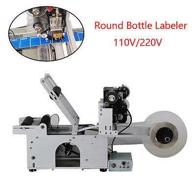 Stainless Steel Small Size Round Bottle Labeler Labeling Machine110/220V Durable
