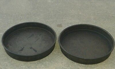 """Set of 2 Commercial Metalcraft Deep Dish 12"""" Pizza Pie Pans Well Seasoned"""
