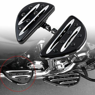 DRIVER FLOORBOARDS PEDAL ForHarley Sportster 883 1200 Touring Dyna Softail New