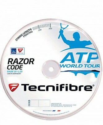 TECNIFIBRE Razor Code Tennis String REEL 1.20mm 18 Gauge 200m Blue Strings New