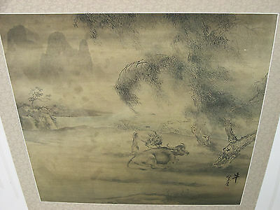 17th / 18th century signed Chinese watercolor painting